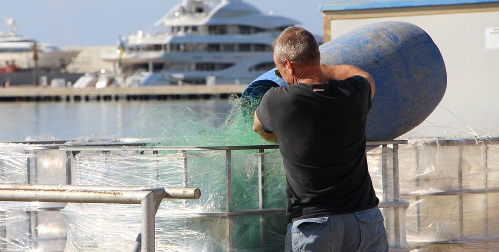 Fishing nets to be recycled