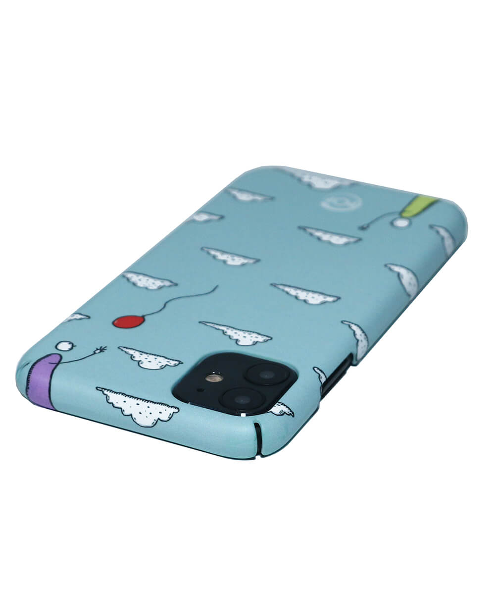 Eco friendly Iphone case with clouds